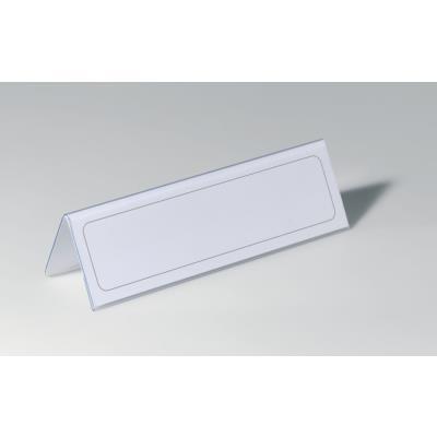 Porte-noms de table Durable - fourni avec des insertions vierges de 61 x 210 mm - PVC - paquet 25 unités