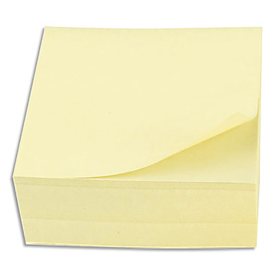 Bloc cube notes repositionnables 5 Etoiles - jaune - 76 x 76 mm - bloc de 320 feuilles (photo)