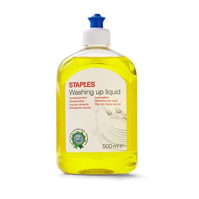 Liquide vaisselle - agrumes - 500 ml - bouchon doseur - jaune (photo)
