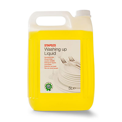 Liquide vaisselle - agrumes - jaune - 5 l - bouchon à vis - bouteille 5 litres (photo)