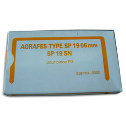 Agrafes Bostitch  NºSP 19 1/4 en boîte de 5000 (photo)