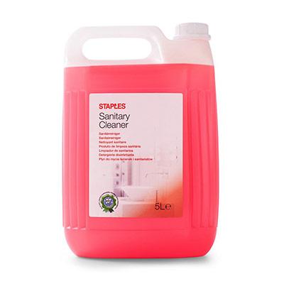 Nettoyant pour toilettes et salle de bain - senteur florale - concentré rouge - 5 l - bouteille 5 litres (photo)