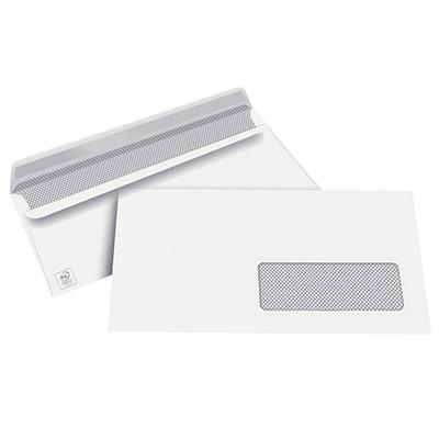 Enveloppes 110x220 1er prix - fenêtre 35 x 100 - blanches - autocollantes - 80g - boîte de 500