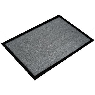 Tapis d'accueil Floortex Valuemat - 80 x 120 cm - trafic modéré - gris (photo)