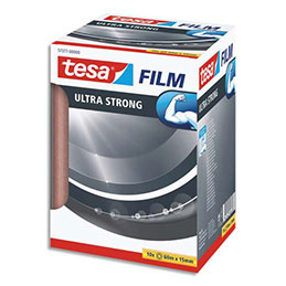 Adhésif tesafilm Tesa Ultra Song - 15 mm x 60 m - transparent et résistant - tour de 10 (photo)