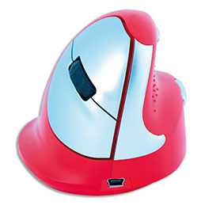 Souris ergonomique R-Go Tools Sport - gaucher - rouge