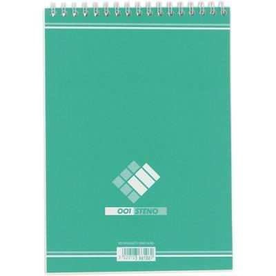 Bloc de bureau sténo 001 Hamelin - format A5 14,8 x 21 cm - uni - 180 pages (photo)
