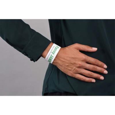Bracelets d'identification Avery - 26,5 x 1,8 cm - impression laser - blanc - sachet de 50 (photo)
