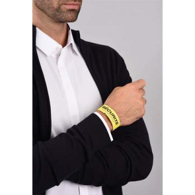 Bracelets d'identification Avery - 26,5 x 1,8 cm - impression laser - jaune - sachet de 50 (photo)