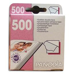 Boîte de 500 coins photo adhésifs Panodia - 10 x 10 mm (photo)