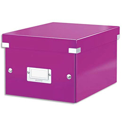 boite de rangement click store m box format a4 dimensions l281xh200xp369mm violet. Black Bedroom Furniture Sets. Home Design Ideas