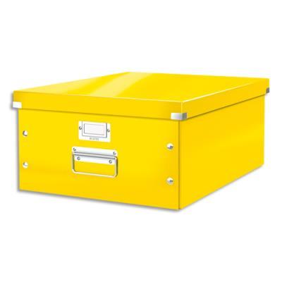Boite Leitz Click & Store Taille L - format A3 - orange