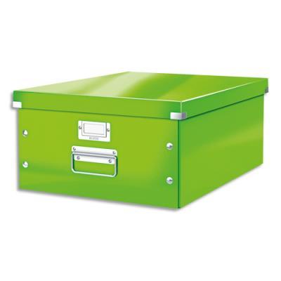 Boite de rangement Click & Store L-Box - format A3 dimensions : L36,9xH20xP48,2cm - vert
