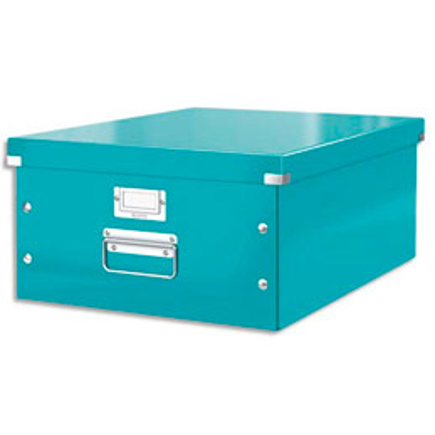 Boite de rangement Click & Store L-Box - format A3 dimensions : L36,9xH20xP48,2cm - menthe