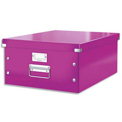 Boite de rangement Click & Store L-Box - format A3 dimensions : L36,9xH20xP48,2cm - violet