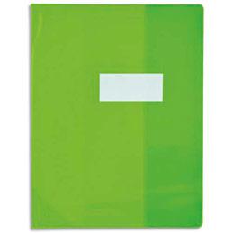Protège-cahier Elba Strong Line - 17 x 22 cm - cristal 15/100° + renforcés (30/100°) - vert (photo)