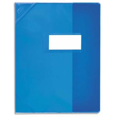Protège-cahier Elba Strong Line - 21 x 29,7 cm - cristal 15/100° + renforcés (30/100°) - bleu (photo)