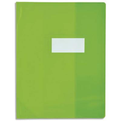 Protège-cahier Elba Strong Line - 21 x 29,7 cm - cristal 15/100° + renforcés (30/100°) - vert (photo)