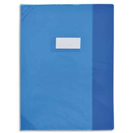 Protège-cahier Elba Strong Line - 24 x 32 cm - cristal 15/100° + renforcés (30/100°) - bleu