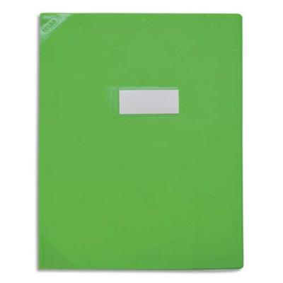 Protège-cahier Elba Strong Line - 24 x 32 cm - opaque 15/100° + renforcés (30/100°) - vert