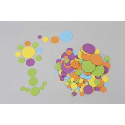 Sachet de 200 ronds caoutchouc diam 1,5/ 2,5 / 3,5/ 5,5 cm, couleurs vert, jaune, bleu, violet, orange