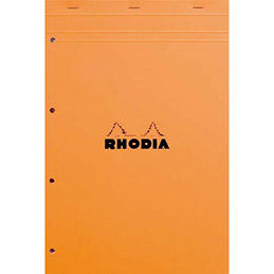 Bloc Rhodia nº20 format 21 x 31.8 cm réglure seyes 80 grammes perforé 20100 (photo)