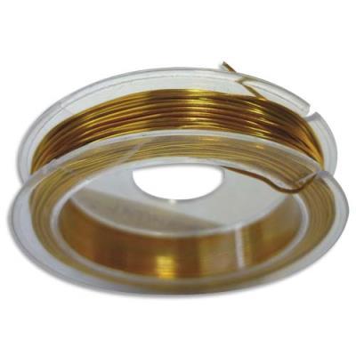Fil aluminium - or - diamètre 0,6 mm - rouleau de 10 m (photo)