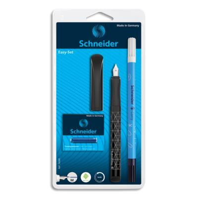 Set stylo plume Easy bleu et 5 cartouches standards, encre bleu