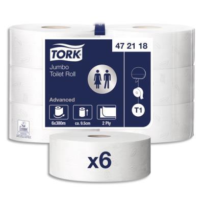 Bobine de papier toilette Tork maxi Jumbo - longueur 380m - colis de 6