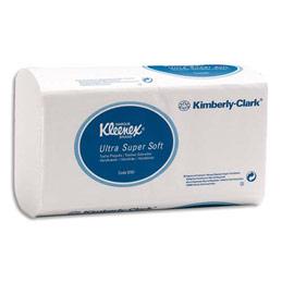 Essuie mains Kleenex Ultra douceur extrême  - pliage en Z - carton de 30 paquets de 96 feuilles (photo)