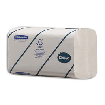 Essuie mains Kleenex Ultra Douceur Extreme - pliage en Z - format 21,5 cm x 21,5 cm - colis de 15 paquets de 186 essuie-mains (photo)