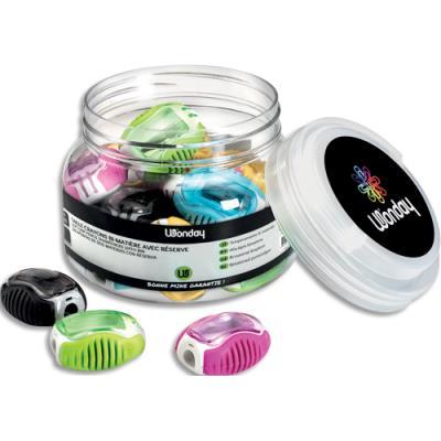 Boîte de 20 taille-crayons bi-matière Safetool avec réserve (photo)