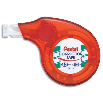 Roller de correction compact Pentel - 4,2 mm x 10 m - bande couvrante avec application latérale