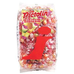 Bonbons acidulés Pictolin Minizum - parfum Exotique - sachet de 1 kg