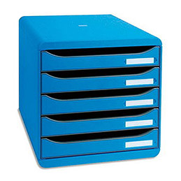 Module de classement Big Box Plus - 5 tiroirs - bleu