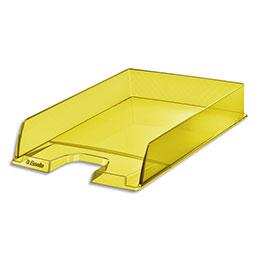 Corbeille à courrier Esselte Colour'Ice - L25,4 x H6,1 x P35cm - jaune