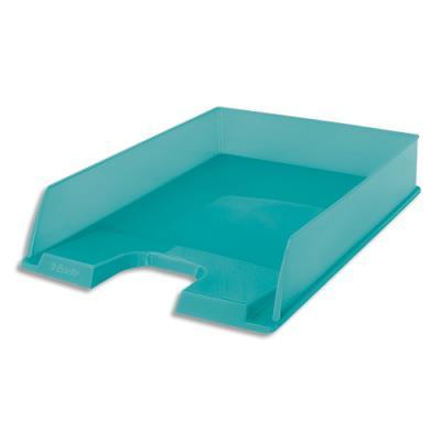 Corbeille à courrier Esselte Colour'Ice - L25,4 x H6,1 x P35cm - bleu
