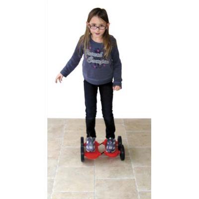 Pédalo d'équilibre 4 roues, coloris rouge (photo)
