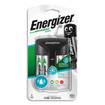 Chargeur de piles universel Energizer pour 2 ou 4 AA et AAA - livré avec 4 piles rechargeables AA 2000 mAh (photo)