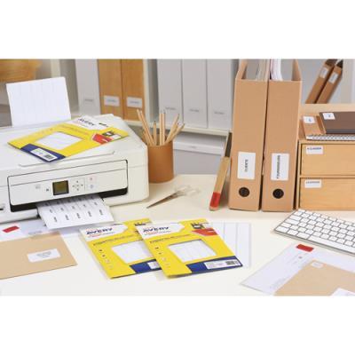 Etiquettes multi-usage Avery ETE112 - blanc - 12,8 x 18,3 mm - planche format A5 - sachet de 1792