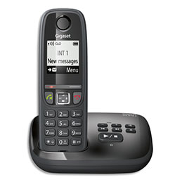 Téléphone Gigaset AS470 - avec répondeur - noir - solo (photo)