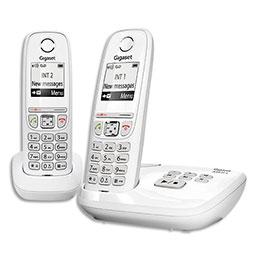 Téléphone Gigaset AS470 - avec répondeur - blanc - duo (photo)