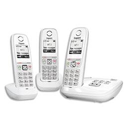 Téléphone Gigaset AS470 - avec répondeur - blanc - trio (photo)
