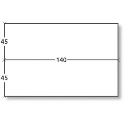 Etiquettes d'affranchissement 2 fronts - format 14 x 4,5 cm - boîte de 1000
