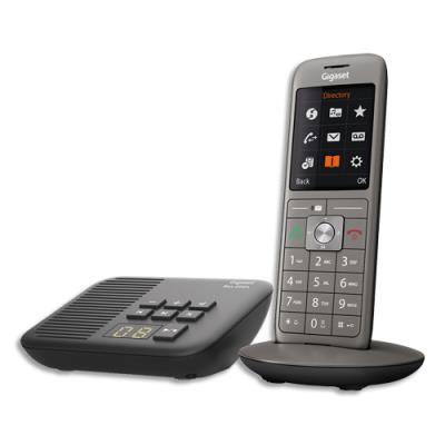 Téléphone Gigaset CL660 - avec répondeur - gris - solo (photo)