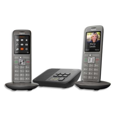Téléphone Gigaset CL660 - avec répondeur - gris - duo (photo)