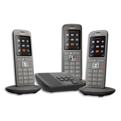 Téléphone Gigaset CL660 - avec répondeur - gris - trio (photo)