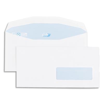 Enveloppes GPV pour mise sous pli automatique - 114x229mm - blanches - fenêtre 35x100 - 80g - boîte de 1000 (photo)