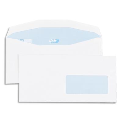 Enveloppes GPV pour mise sous pli automatique - 114x229mm - blanches - fenêtre 45x100 - 80g - boîte de 1000 (photo)