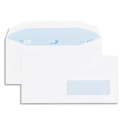 Enveloppes GPV pour mise sous pli automatique - 115x225mm - blanches - fenêtre 35x100 - 80g - boîte de 1000 (photo)